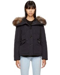 Moncler - Navy Down Malus Jacket - Lyst