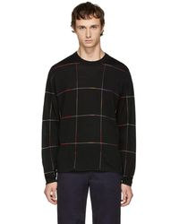 PS by Paul Smith - Black Grid Sweater - Lyst