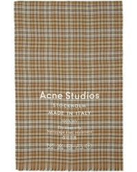 Acne Studios - Beige And Brown Check Cassiar Scarf - Lyst