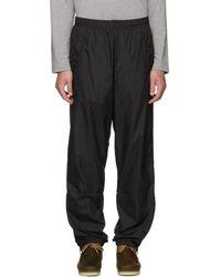 Acne Studios - Black Nylon Face Lounge Pants - Lyst