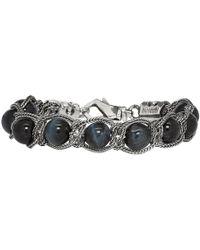 Emanuele Bicocchi - Black Beaded Chain Bracelet - Lyst