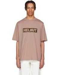 Helmut Lang - Pink Tall Logo T-shirt - Lyst