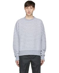 Diesel Black Gold - Grey And White Wool Sweater - Lyst