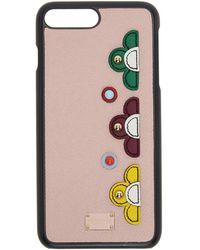 Dolce & Gabbana - Pink Flower Iphone 7 Case - Lyst