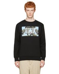 Palm Angels - Black Buzzer Beater Pullover - Lyst
