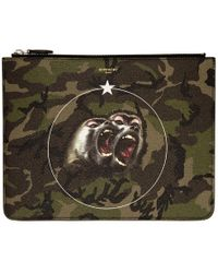Givenchy - Green Camo Monkey Brothers Pouch - Lyst