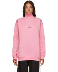 MSGM - Pink Mini Logo Turtleneck - Lyst