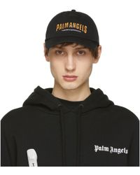d3c281cc88e Lyst - Palm Angels Black And Pink Beanie With Logo in Black for Men