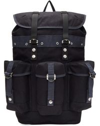 Sacai - Navy Buckled Backpack - Lyst