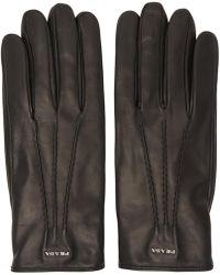 Prada | Black Lambskin Gloves | Lyst