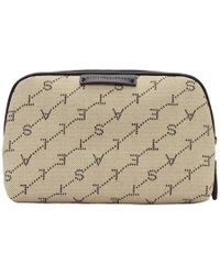 Stella McCartney - Beige Monogram Eco Cosmetic Case - Lyst