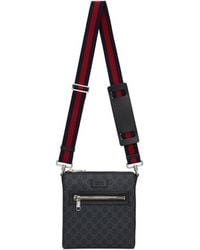 Gucci - Sac messager noir Small GG Supreme - Lyst