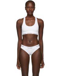 Calvin Klein - White Modern Cotton Bralette - Lyst