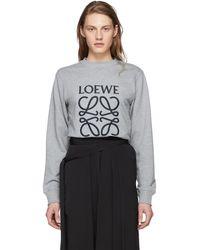 Loewe - Grey Anagram Sweatshirt - Lyst