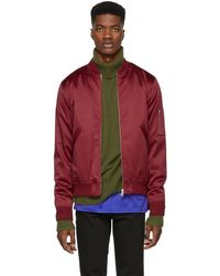 A.P.C. - Red Tough Bomber Jacket - Lyst