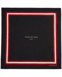 Fear Of God - Black Logo Bandana - Lyst