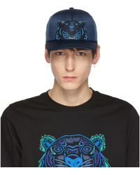 832422a88 KENZO - Navy Limited Edition Holiday Satin Tiger Cap - Lyst