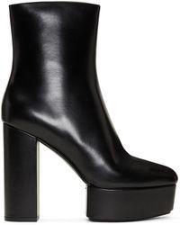 Alexander Wang - Black Cora Heeled Platform Boots - Lyst