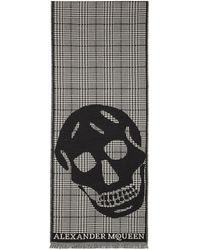 Alexander McQueen - Black And Off-white Oversized Skull Scarf - Lyst