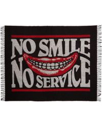 Stella McCartney - Black And Red No Smile Blanket Scarf - Lyst
