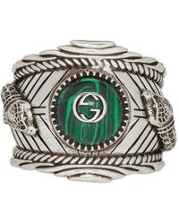 Gucci - Garden Ring In Silver - Lyst
