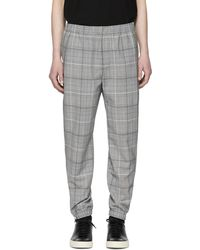 Tim Coppens   Grey Wool Check Staple Jogger Trousers   Lyst