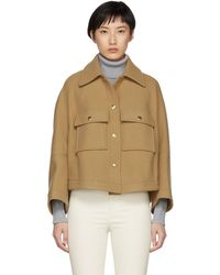 Chloé - Brown Loose Fitted Shirt Jacket - Lyst