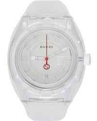 Gucci - White Transparent G-sync Watch - Lyst