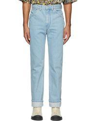 Lemaire - Blue 5-pocket Jeans - Lyst
