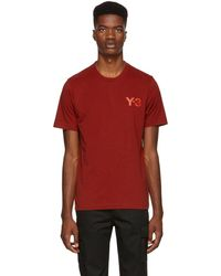 Y-3 - Red Classic T-shirt - Lyst