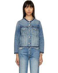AMO - Blue Lola Denim Jacket - Lyst