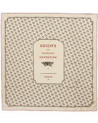 Gucci - Ivory Logo Stamp Scarf - Lyst