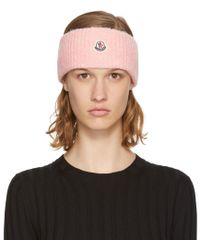 Black Intarsia Logo Headband Moncler rpUH1D
