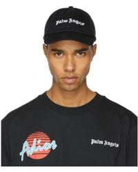 21edbb6ea16 Palm Angels - Black Logo Vintage Cap - Lyst