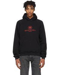 Balenciaga - Black Mode Logo Hoodie - Lyst