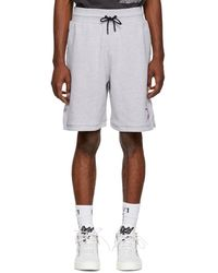 Marcelo Burlon - Grey Nba Edition Sweat Shorts - Lyst