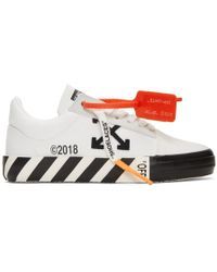 Off-White c/o Virgil Abloh - Baskets rayees blanches Vulcanized - Lyst