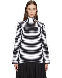 Hyke | Navy & White Striped Turtleneck | Lyst