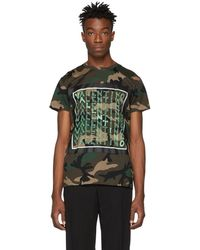 Valentino - Logo And Camouflage-print Cotton-jersey T-shirt - Lyst