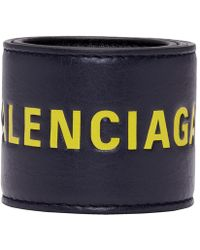 Balenciaga - Black And Yellow Cycle Bracelet - Lyst