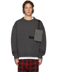 D by D - Grey Outpocket Jumper - Lyst