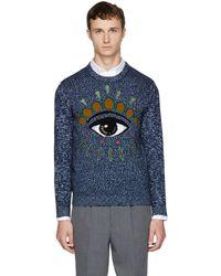 KENZO - Navy Intarsia Eye Sweater - Lyst