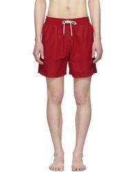 e9b519e065 Polo Ralph Lauren Seersucker Traveler Swim Shorts in Orange for Men - Lyst