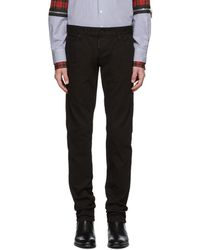 DSquared² - Black Garment Dyed Slim Jeans - Lyst