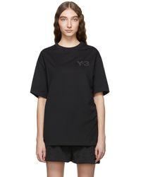 Y-3 - Black Mens Fit Logo T-shirt - Lyst