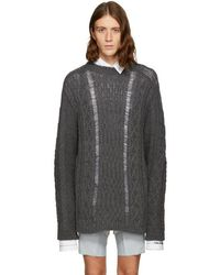 Margiela Maison Lyst Sweater Blend Alpaca Oversize Knit Cable dZrqZw0