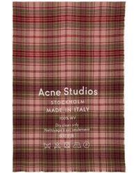 Acne Studios - Pink Cassiar Check Scarf - Lyst