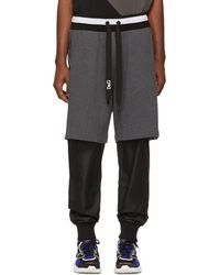Dolce & Gabbana - Grey And Black Logo Band Lounge Trousers - Lyst