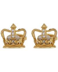 Dolce & Gabbana Gold King Cufflinks - Metallic