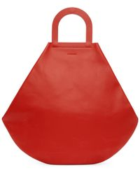 Building Block - Ssense Exclusive Red Stencil Tote - Lyst